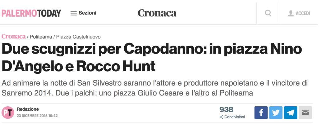 Rocco Hunt a Palermo