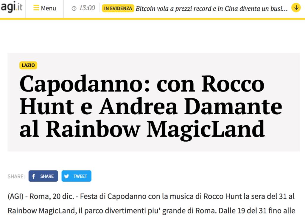 Rocco Hunt a Roma