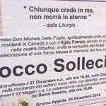 Parroco invita i fedeli alla messa per il Boss Rocco Sollecito