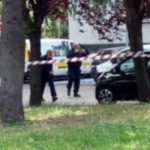 Bomba esplosa a Roma, vigili del fuoco e carabinieri a lavoro